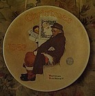 Norman Rockwell 1983 plate Santa In the Subway