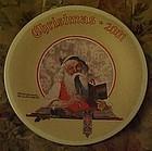 Norman Rockwell 2001 plate Bookkeeper Santa