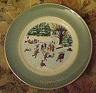 Avon Christmas 1975 plate Skaters on the pond