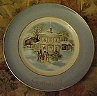 Avon 1977 Christmas plate Carolers in the snow #5