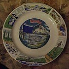 Alaska souvenir plate, poem and points of interest
