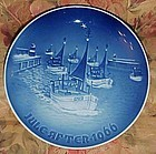 1966 Bing Grondahl Home for Christmas plate Ships