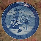 Royal Copenhagen 1967 Christmas plate The Royal Oak
