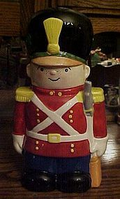 Toy soldier ceramic cookie jar