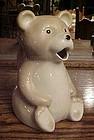 Porcelain bear shape juice pitcher utensil holder
