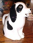Black and white spotted dog juice milk pitcher