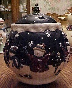 Snow Friends cookie jar MIB St. Nicholas Square