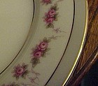 Noritake 1313 R.C. Japan pink rose swag dinner plate