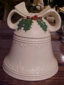 Vintage ceramic Christmas bell cookie jar