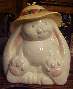 Treasure Craft Flopsy bunny rabbit cookie jar ~Perfect