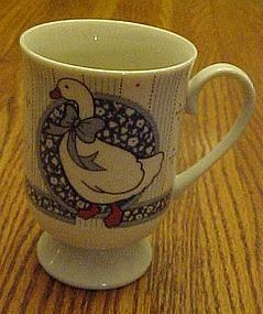 B D Ribbon Geese irish coffee mug blue goose