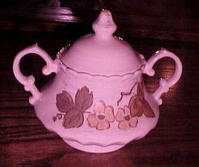 Metlox Vernonware Autumn Leaves sugar bowl