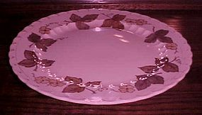 Metlox Vernon ware Autumn leaves 14 1/8 Chop plate
