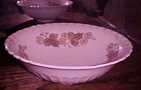 "Metlox Vernonware Autumn Leaves 12 1/2"" bowl"