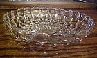 "Anchor Hocking Crystal clear Bubble 8 1/2"" bowl"