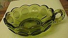 Fostoria coin glass green nappy