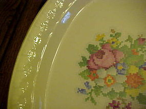 "Taylor Smith Taylor Petit Point Bouquet 13 1/2"" platter"