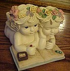Dreamsicles musical figurines 2 cherubs coloring