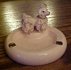 Lefton pink spaghetti poodle ashtray