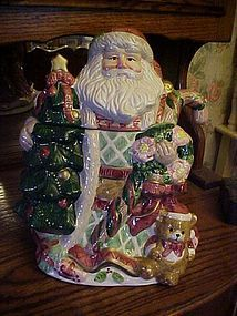 Large Santa Saint Nicholas Cookie jar by Mercuries