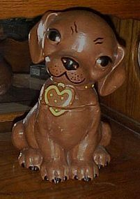 Vintage Deforest of California puppy cookie jar