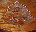 Mikasa large Christmas tree plate bells, poinsettias