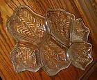 Jeanette Venetian six section dish crystal clear