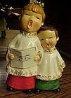 Vintage 1960's Choir boys  Christmas carolers figurine