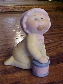 Cabbage Patch kid crawling baby porcelain figurine