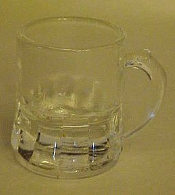 Federal Glass beer mug  shape shot glass clear