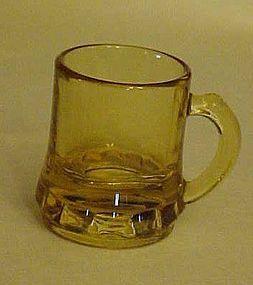 Federal Glass beer mug shape shot glass Amber