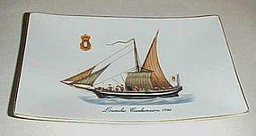 Lancha Canhoneira 1798 Portugese ship dish