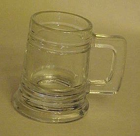 Glass beer stein or mug shaped shot glass
