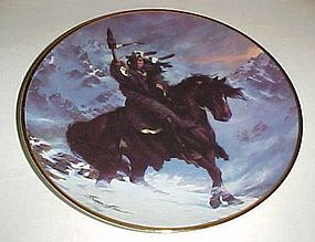 Spirit of the West Wind collector plate Hermon Adams