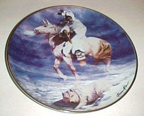 Spirit of the winter wind collector plate Hermon Adams