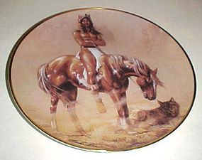 Spirit of the desert collector plate by Hermon Adams