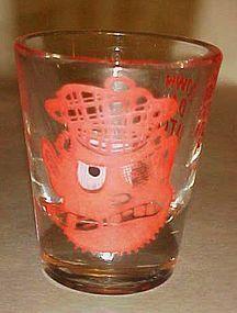 Vintage Irishman roving eye shot glass