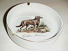 Vintage Golden Retriever porcelain ash tray