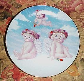 Dreamsicles Love's shy glance collector plate