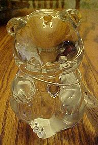 Fenton crystal bear figurine 1981