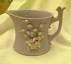 Lefton lavender bisque creamer applied florals Harro's