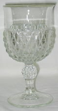 Indiana diamond point water goblet crystal clear