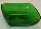 Fire King forest green Charm dessert  bowl