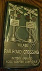Dept 56 Heritage Village train railroad crossing signal