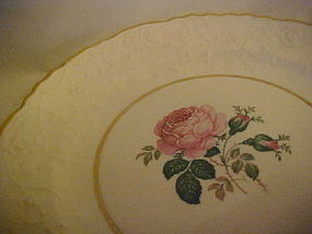 Vintage Pope-Gosser Rose point Windsor Rose salad plate