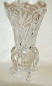 Vintage Imperlux Amphora cut crystal footed vase