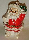 Vintage Relpo Spaghetti trim Santa Bank PERFECT