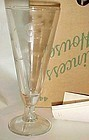 Princess House Heritage Pilsner glasses 2 boxed set