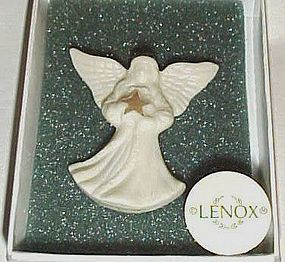 Pretty Lenox china angel pin in original box