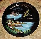 Vintage Catalina Island lacquer souvenir plate tray